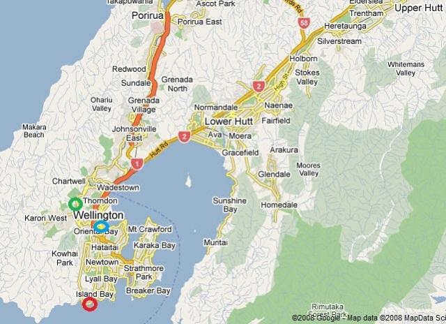 Wellington-map