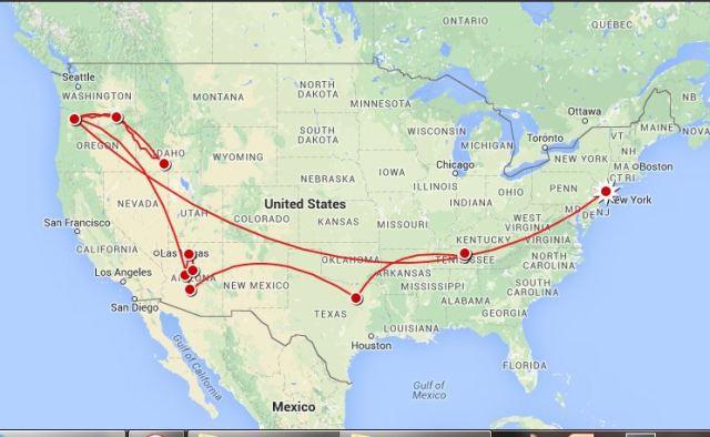 US trip detailed